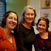 Marie Gannon, Mel Ramage, and Denise Weegar